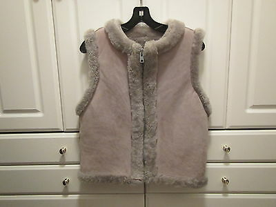Knight Tailors Ltd Womens Size 36 Vest Sleeveless Suede Wool Gray Zippered Front