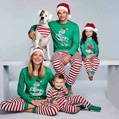 AU Xmas Family Matching Christmas Pajamas Suit Christmas Sleepwear Nightwear Set