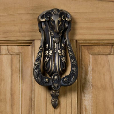 Signature Hardware Ram's Head Brass Door Knocker