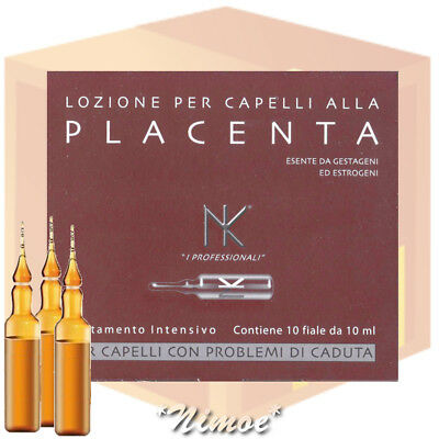 Placental Extract Hair Lotion 12 box = 120 fiale Nicky Chini ® Lozione Placenta