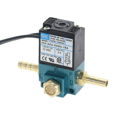 DC12V  5.4W MAC Solenoid Valve 35A-AAA-DDBA-1BA With Brass Silencer