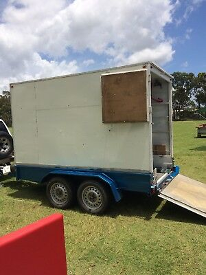 market stall tandem  trailer with stock and equipment