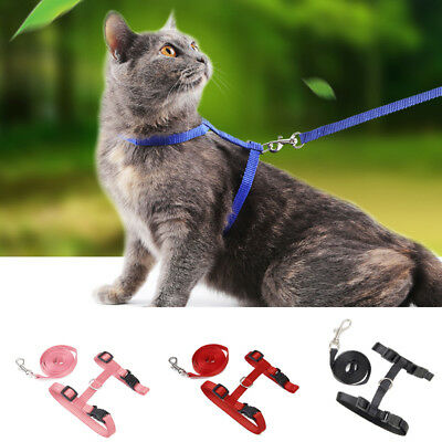 Dog Puppy Pet Cat Kitten Adjustable Harness Lead Leash Collar Belt Safety Rope