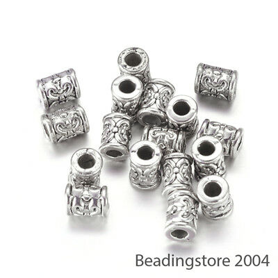 lady-muck1 5mm 20//40 Rose Gold /& Silver Barrel Shaped Metal Spacer Beads