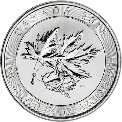 2015 Canada 1.5 oz Canadian Maple Leaf .9999 Fine Silver Bullion $8 Coin
