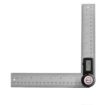 GemRed 82305 Digital Angle Finder 7 Inch Protractor Stainless Steel Angle Finder