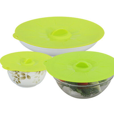 New Silicone Boil Over Spill Lid / Preservation Pan Cover / Oven Safe Stopper