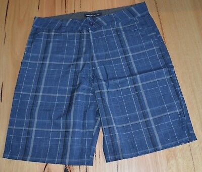 O'Neill Mens Casual Walk Shorts - BLUE CHECK -SIZES -  28,30,32 & 33 - NEW