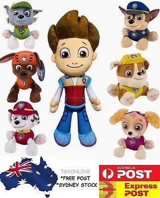 PAW PATROL EVEREST PLUSH DOLL PUPS DOG SOFT STUFFED TOY 20cm Chase Ryder Rubble