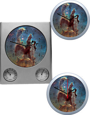 Wall Clock Universe Cosmos Galaxy Motifs 3 Watches models also as Radio