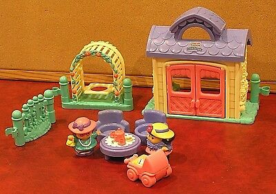 FISHER PRICE LITTLE PEOPLE GARDEN TEA PARTY PLAYTIME PALS COMPLETE Post & Pickup
