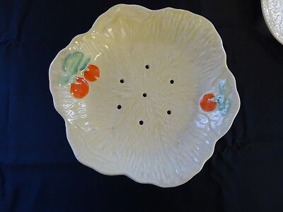 Vintage Beswick draining salad bowl and matching plate