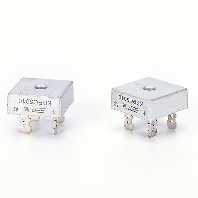 2x  KBPC5010 50A 1000V Metal Case Single Phases Diode Bridge RectifieSTHW