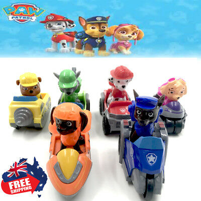 Paw Patrol Dog Car Toys Puppy Rescue Racer Action Figure Kids Xmas Gift- 6pc AU