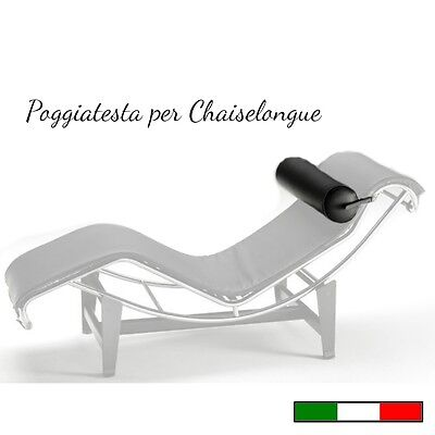CHAISELONGUE ricambio POGGIATESTA in PELLE - Made in Italy