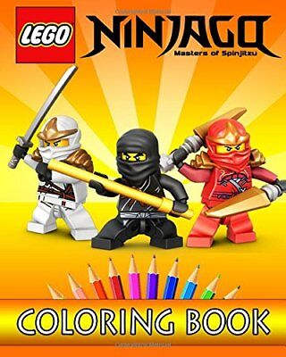 LEGO Ninjago Movie Colouring In Book For Kids Paperback New Free Post Childrens