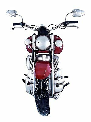 Perchero De Pared Moto Antiguo Vintage Retro Metal 3D Original Rojo NOVEDAD