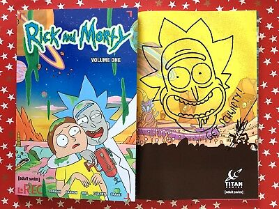Rick and Morty Volume 1 SIGNED and SKETCHED Marc Ellerby graphic novel comic