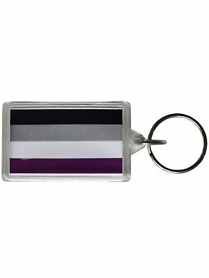 Asexual Flag Key Ring Rainbow Pride Gay-Pride Free Delivery!