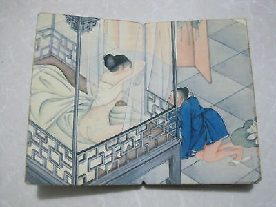 """CHINA OLD ALBUM FLODING BOOK""""Couples Story""""FOLK TRADITIONAL PAINTING A1"""