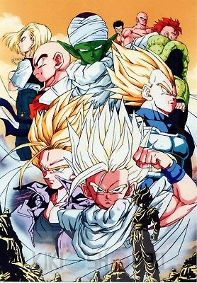 Poster A3 Dragon Ball Z Goku Gohan Vegeta Trunks Manga Anime Cartel 02