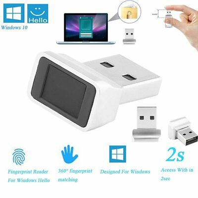 Mini USB Fingerprint Scanner Sensor Dongle Module Reader 360° Touch for Windows