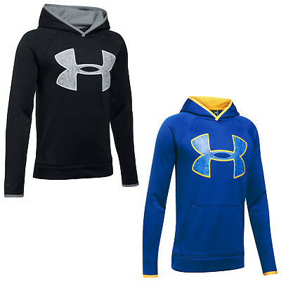 Under Armour Junior AF Armour Fleece Big Logo Hoodie New Boys Kids Lightweight