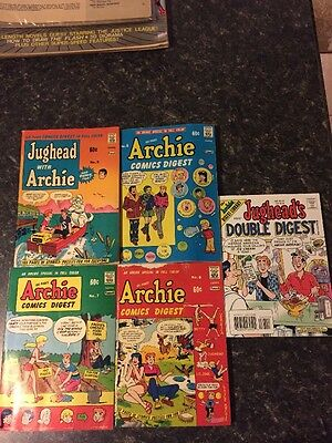 Jughead with Archie Digest (1974) #5,6,7,8 And #67 Free With Shipping