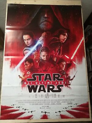 Manifesto Film STAR WARS 8 GLI ULTIMI JEDI Poster Movie Originale Cinema 100x140