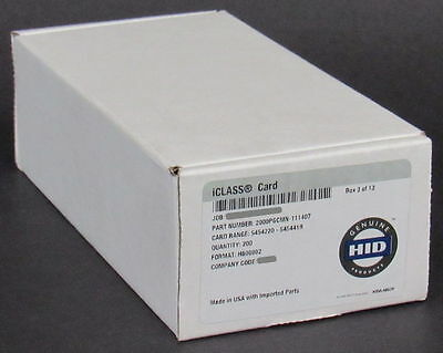 NEW 50-PACK 100% Genuine HID iClass Contactless Smart Cards