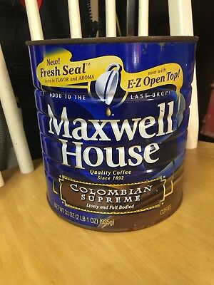 Maxwell House coffee tin can. I also have Folgers-see my page for those vintage