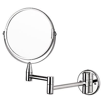 """Chrome Reversible Double Sided Wall Mounted 7"""" Shaving Make Up Vanity Mirror"""