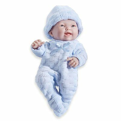 """9.5"""" Anatomically Correct Real Boy Baby Doll dressed  BLUE  Vinyl Open Mouth"""
