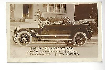 1914 Oldsmobile Six Automobile Advertising RPPC