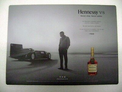 "Hennessey VS Bar Mat ""Never Stop. Never Settle"" Place Mat Change New Old Stock"