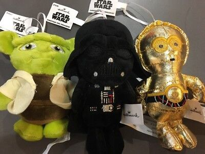 Clearance 3 Star Wars Christmas Ornaments Hallmark Special Set Plush Tree