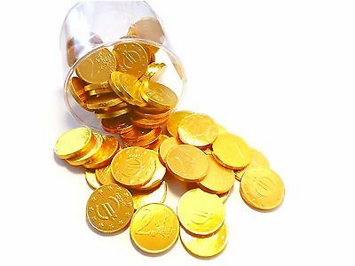 70 Chocolate Gold Coins in gold foil chocolate euro coins UO