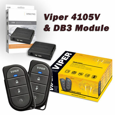 Viper 4105V Remote Car Starter & DB3 Bypass (2) 4-Button Remotes Keyless NEW