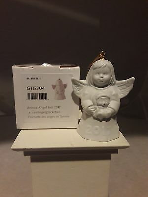 Goebel, 2017 Annual Angel Bell, White Bisque, 42Nd Edition, New, Mib, Free Usps