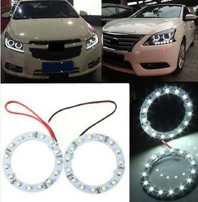 Pair 60mm White Car Angel Eyes Lights HeadLight Halo Ring Lights 15 LEDs SMD Chi