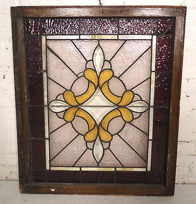 Vintage Stained Glass Window Panel (00678)NS
