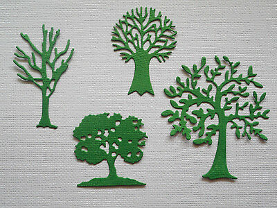 Small Trees Paper Die Cuts x 4 Sets Scrapbooking Embellishment - Not a Die