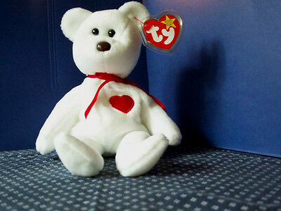 TY Beanie Baby babies bear Valentino Valentines Day 2-14-1994 retired mint tags