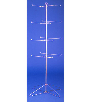 """4 Tier Free Standing Spinning Rotating Wire Spin Rack 63.5"""" H"""