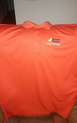 Corner Pantry Convenience Store Employee Polo Shirt Red  Sz 2XL Gas Station