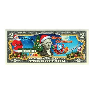 Exclusive $2 Bill Christmas Design - Sale Price
