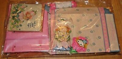Avon Little Blossom Lot Scented Picture Frame Pomander Laces Patch Cloth Figure