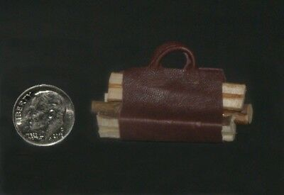 Log Carrier (2) with Logs Artisan Dollhouse Miniature 1:12 scale