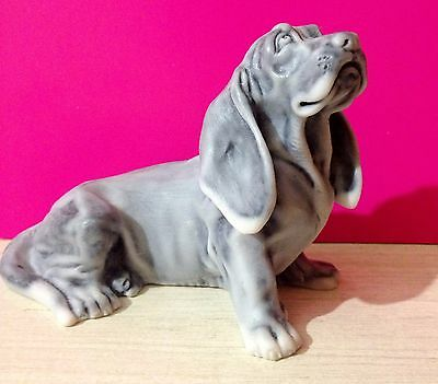 Basset Hound figurine marble chips dog art realistic Souvenirs from Russia