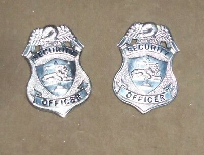Pair of Security Officer Badges